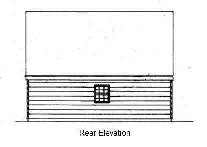 Garage Plan 87823 Rear Elevation