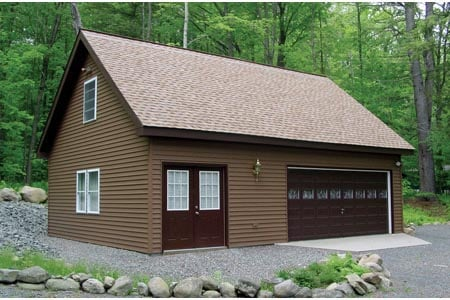 2 Car Garage Plan 87824 Elevation