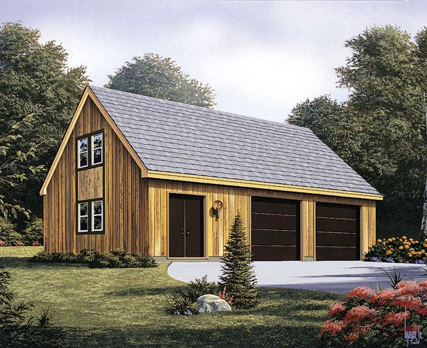 2 Car Garage Plan 87826 Elevation