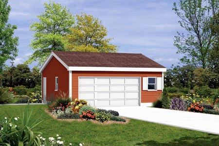 2 Car Garage Plan 87830 Front Elevation