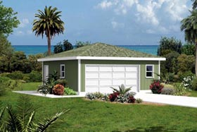 Garage Plan 87831 | Style Plan, 2 Car Garage Elevation