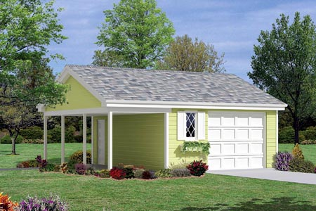 1 Car Garage Plan 87832 Elevation