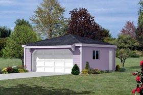 Garage Plan 87834 | Style Plan, 2 Car Garage Elevation