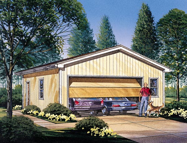 Garage Plan 87838 Elevation