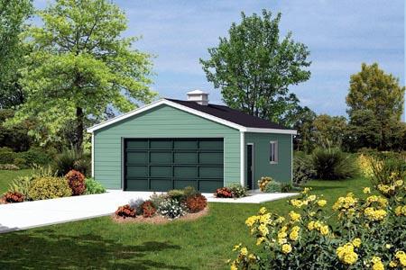 Garage Plan 87841 Elevation
