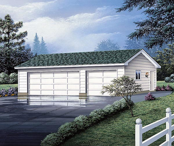 Front Elevation Car Garage : Garage plan at familyhomeplans