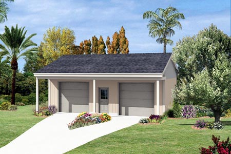 2 Car Garage Plan 87863 Elevation