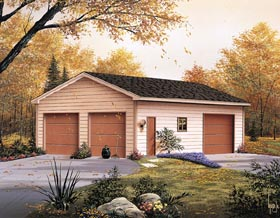 3 Car Garage Plan 87864 Elevation