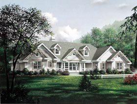 House Plan   Order Code WEB at FamilyHomePlans comCountry Ranch Southern Traditional Victorian House Plan Elevation