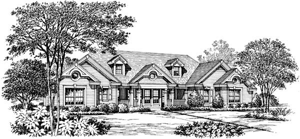 Country Ranch Southern Traditional Victorian House Plan 87871
