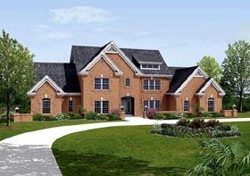 House Plan 87873 | Country Traditional Style Plan with 3670 Sq Ft, 4 Bedrooms, 5 Bathrooms, 3 Car Garage Elevation