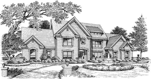 Country Traditional House Plan 87873