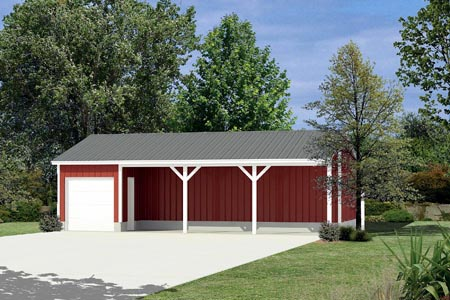 0 Car Garage Plan 87874 Elevation