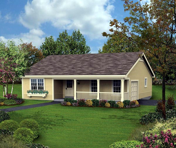 Country Ranch Traditional House Plan 87877 Elevation