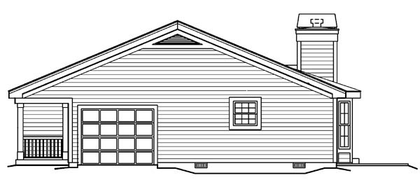 Country, Ranch, Traditional House Plan 87877 with 3 Beds, 2 Baths, 1 Car Garage Picture 2