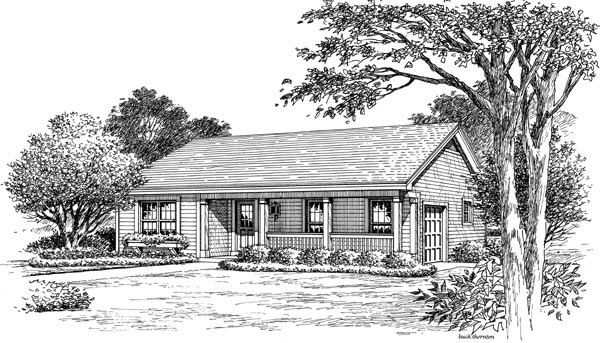 Country, Ranch, Traditional House Plan 87877 with 3 Beds, 2 Baths, 1 Car Garage Picture 3