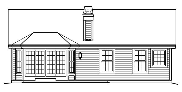 Country Ranch Traditional House Plan 87877 Rear Elevation