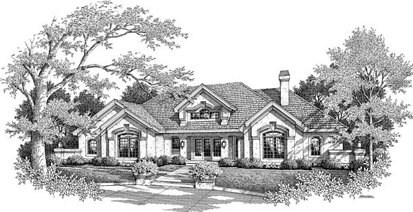 Country, Ranch, Southern, Southwest House Plan 87882 with 4 Beds, 4 Baths, 3 Car Garage Picture 3