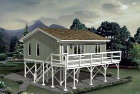 Cabin House Plan 87885 Elevation