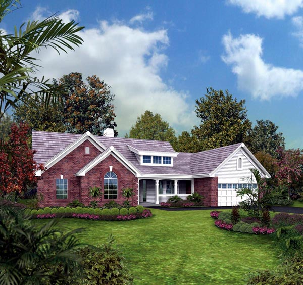 Bungalow Country Ranch Traditional Elevation of Plan 87889