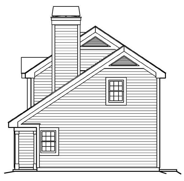 Cabin, Cottage, Country, Ranch, Traditional 2 Car Garage Apartment Plan 87891 with 1 Beds, 1 Baths Picture 2