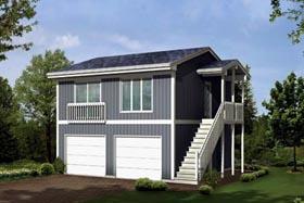 Contemporary Traditional Garage Plan 87893 Elevation
