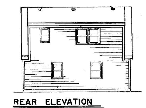Garage Plan 87894 Rear Elevation