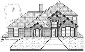 European Traditional House Plan 87900 Elevation