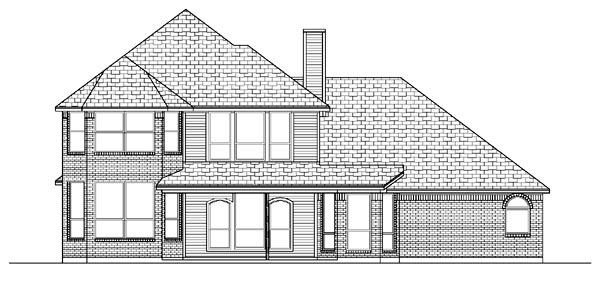 European Traditional House Plan 87900 Rear Elevation