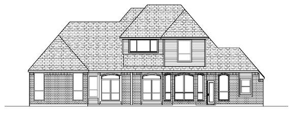 European House Plan 87901 Rear Elevation