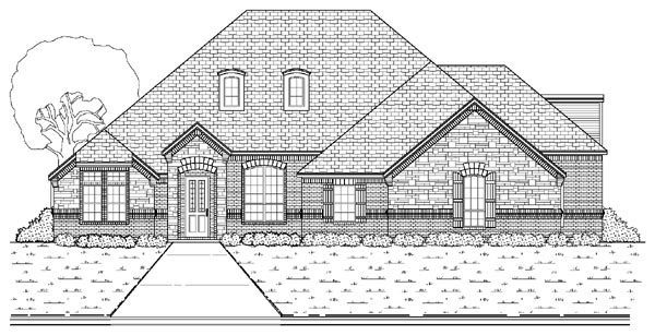 European House Plan 87902 Elevation