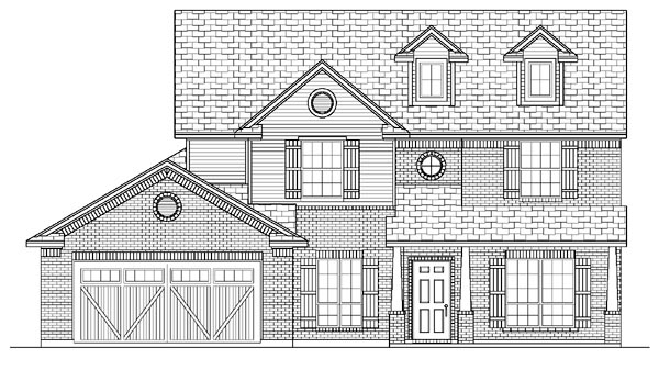 Country , Farmhouse , Elevation of Plan 87903
