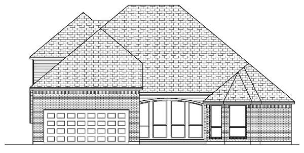 European House Plan 87904 Rear Elevation