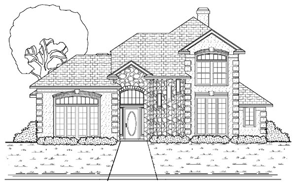 Mediterranean House Plan 87905 with 4 Beds, 3 Baths, 2 Car Garage Elevation