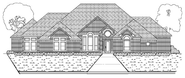 European House Plan 87906 with 4 Beds, 3 Baths, 3 Car Garage Elevation