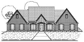 Traditional House Plan 87907 Elevation