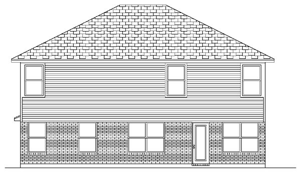 Traditional House Plan 87909 Rear Elevation