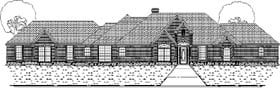 Traditional House Plan 87916 with 4 Beds, 3 Baths, 3 Car Garage Elevation