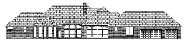 Traditional House Plan 87916 Rear Elevation
