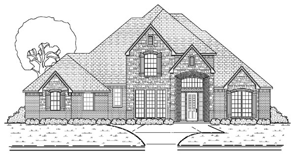 European House Plan 87917 Elevation