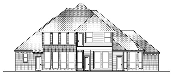 European House Plan 87917 Rear Elevation