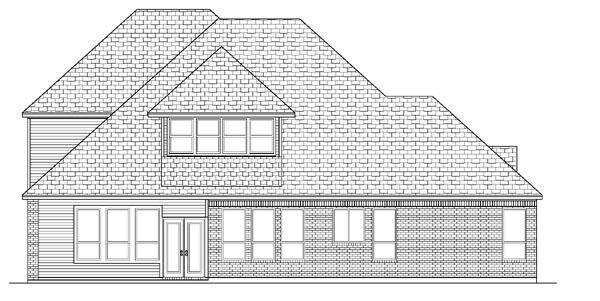 European House Plan 87919 Rear Elevation
