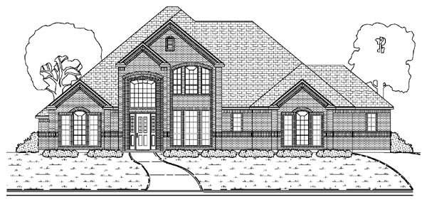 European House Plan 87920 with 5 Beds, 4 Baths, 3 Car Garage Elevation
