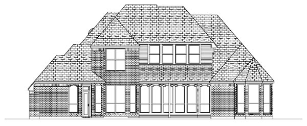 European House Plan 87922 Rear Elevation