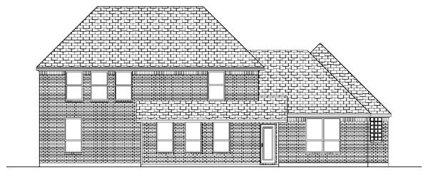 European House Plan 87923 Rear Elevation