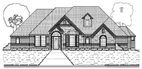 House Plan 87925 | European Style Plan with 3660 Sq Ft, 4 Bedrooms, 4 Bathrooms, 3 Car Garage Elevation