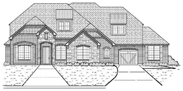 European House Plan 87926 Elevation