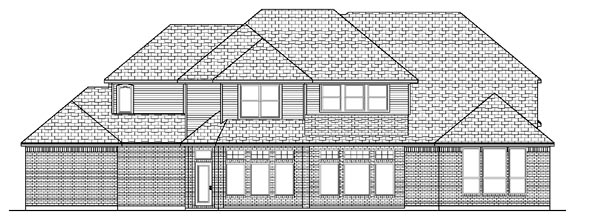 European House Plan 87926 Rear Elevation