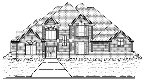 European House Plan 87927 with 5 Beds, 4 Baths, 3 Car Garage Elevation