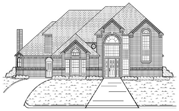 European House Plan 87928 with 5 Beds, 5 Baths, 3 Car Garage Elevation